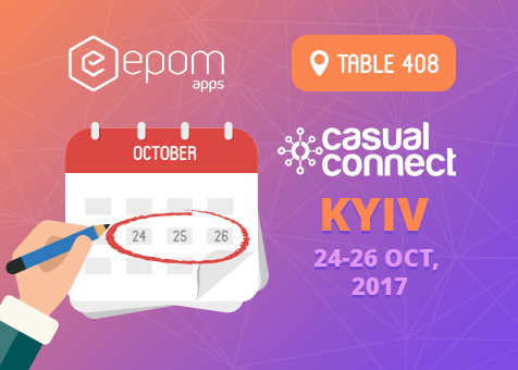 Meet Epom Apps at Casual Connect